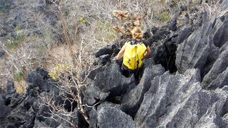 Prospection dans les tsingis